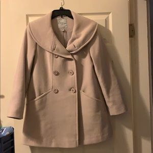 Larry Levine double breasted wool pea coat